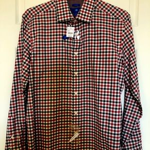 Egara Checker Long Sleeve Button Down Shirt